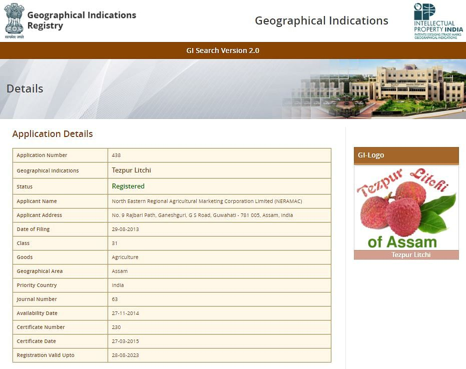 The Geographical Indications Registry report