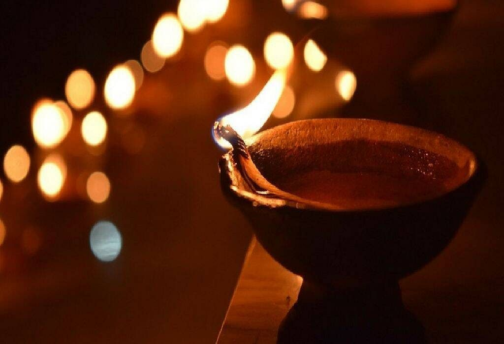 Instead of Chinese lights, go for traditional Diyas.