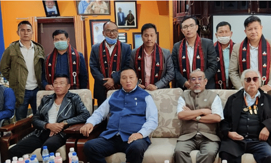 Naga National Political Groups leaders with the COCOMI leaders