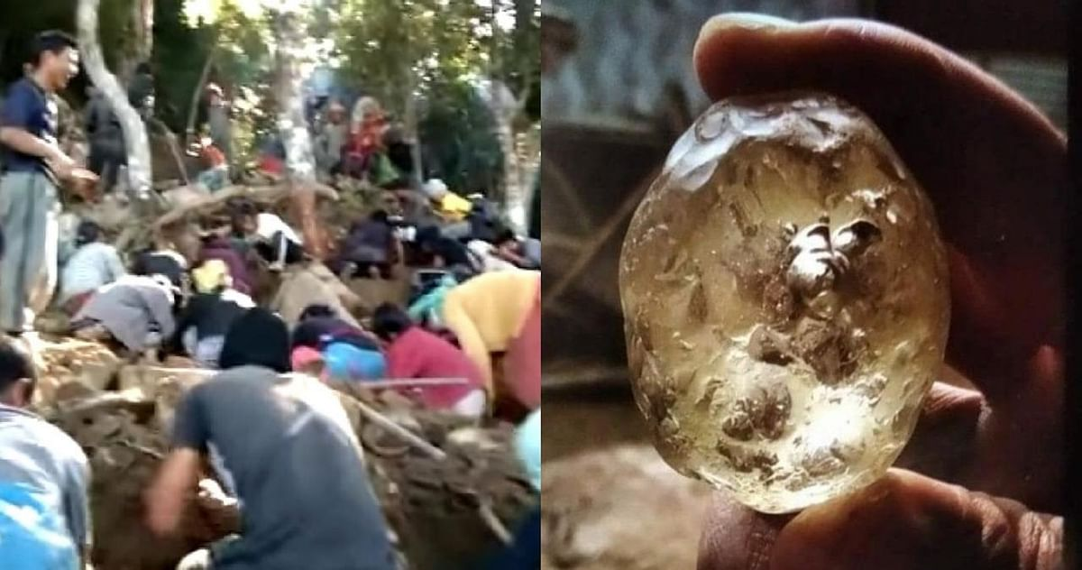 Reports of the discovery of the precious stone went viral