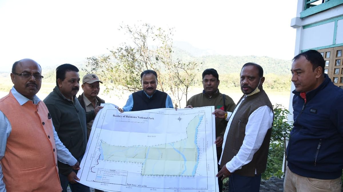 Map for Assam's 6th proposed national Park-Raimona National Park-unveiled