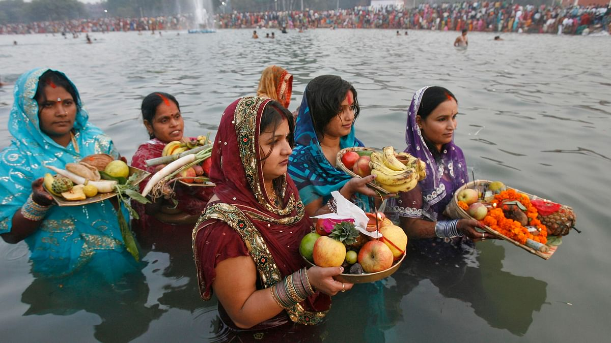 Chhath Puja is a four-day-long festival where the Sun god and his sister Chhathi Maiya are worshipped