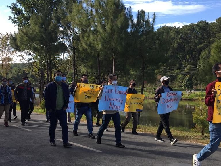 Protest march at NEHU demands removal of Vice-Chancellor