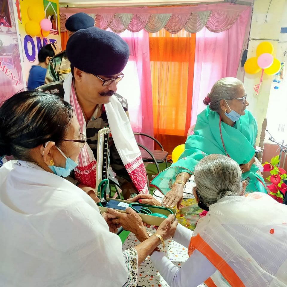 47 Assam R&V Sqn NCC as part of its social service drive organized a social service activity of providing essential items for the use of the senior inmates of Mother Old Age Home in Guwahati on Thursday.