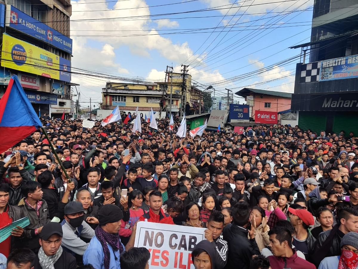 Mass protet that took place at Motphran on Dec, 13,2019