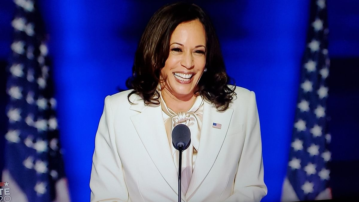 While I may be the first woman in this office, I won't be the last: Kamala Harris