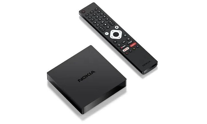 The full-fledged remote control that comes bundled with the device is backlit and has hotkeys for Google Assistant, Google Play, Netflix, Amazon Prime Video, and YouTube