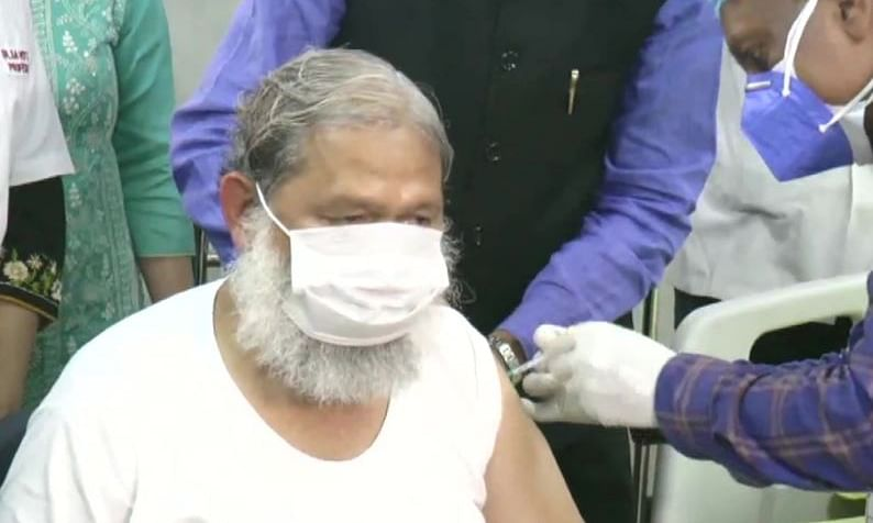 Anil Vij was administered the dose at a hospital in Haryana's Ambala Cantonment area