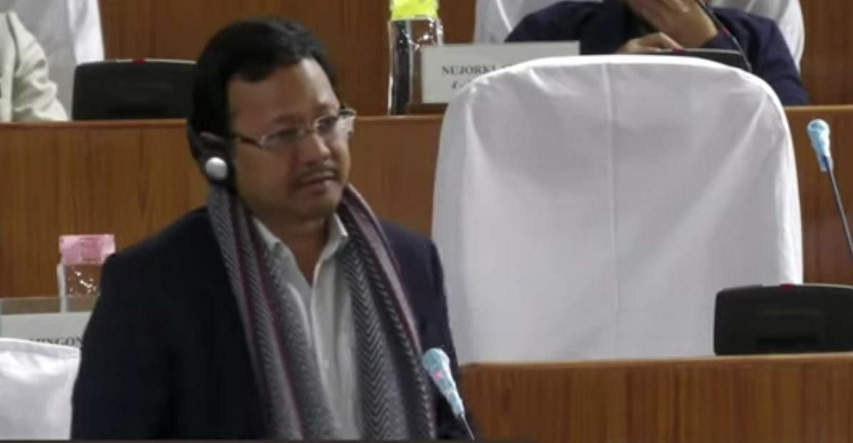 Power Minister James Sangma during question hour of Meghalaya Legislative Assembly- Autumn Session