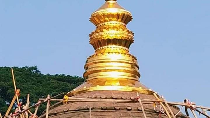 Assam: Construction of Gold-top shrine donated by Reliance completed at Kamakhya temple