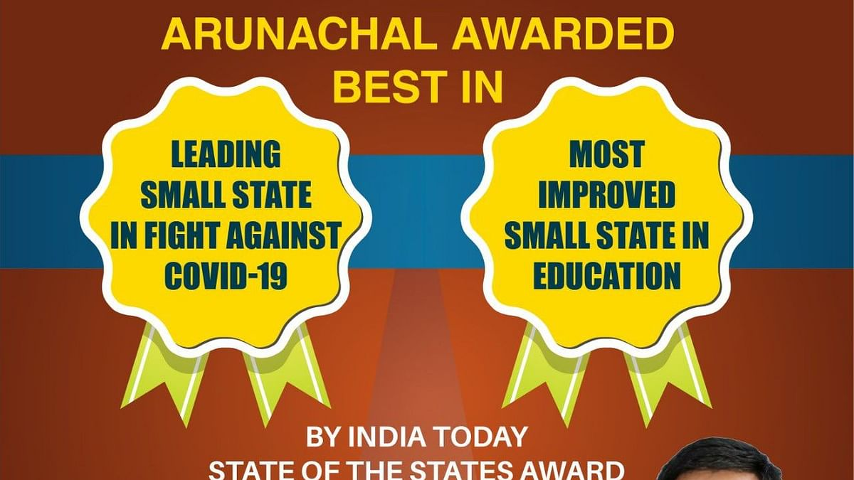 Arunachal Pradesh wins India Today award for 'fight against COVID-19'