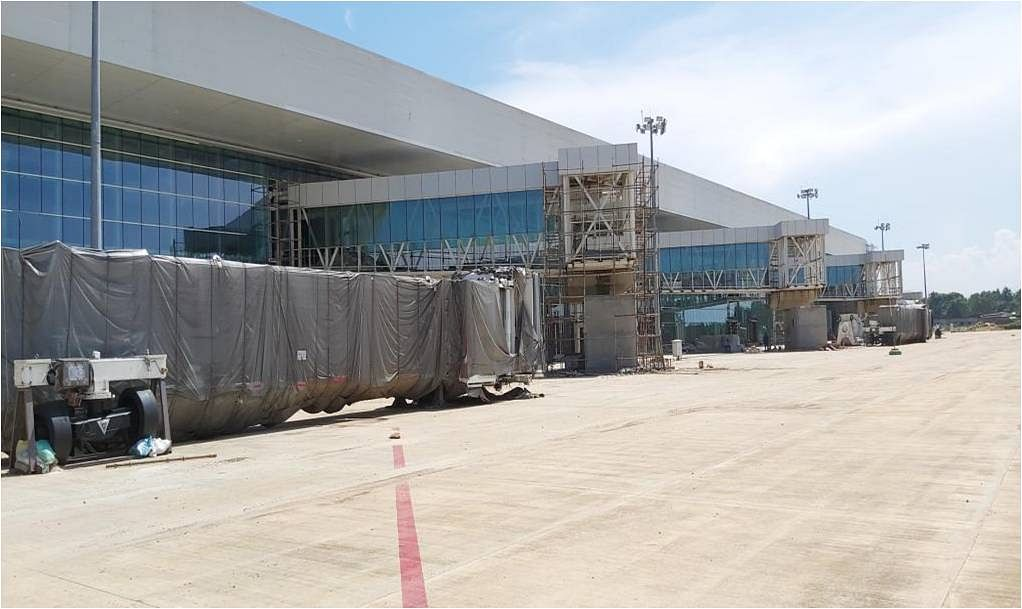 Airside work view of the new terminal building