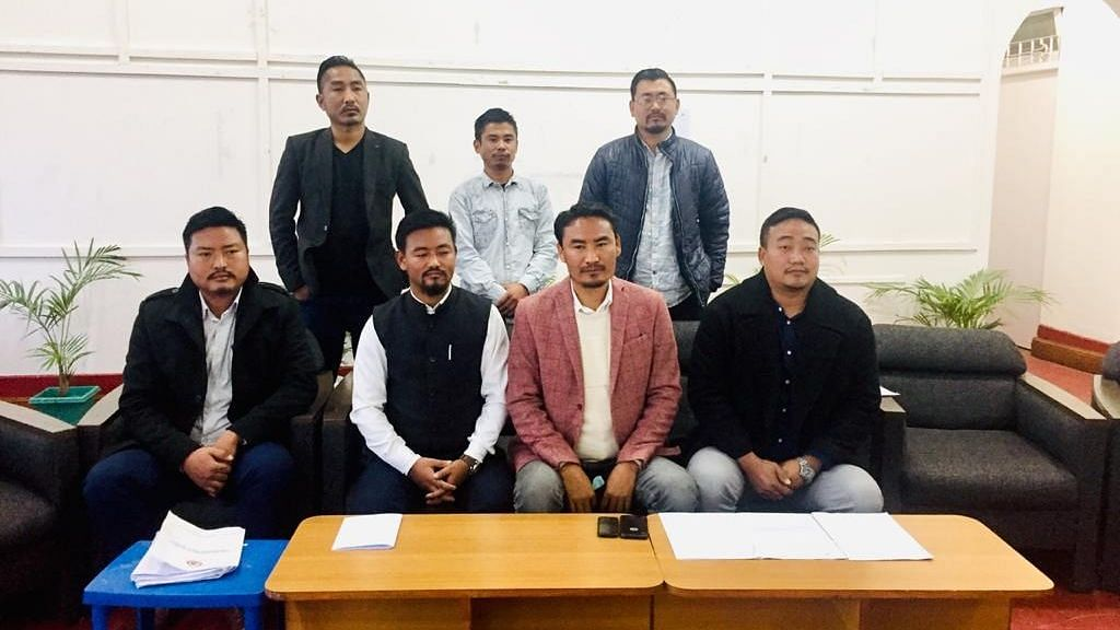 ENSF President Sepili Sangtam (front row-second from right)
