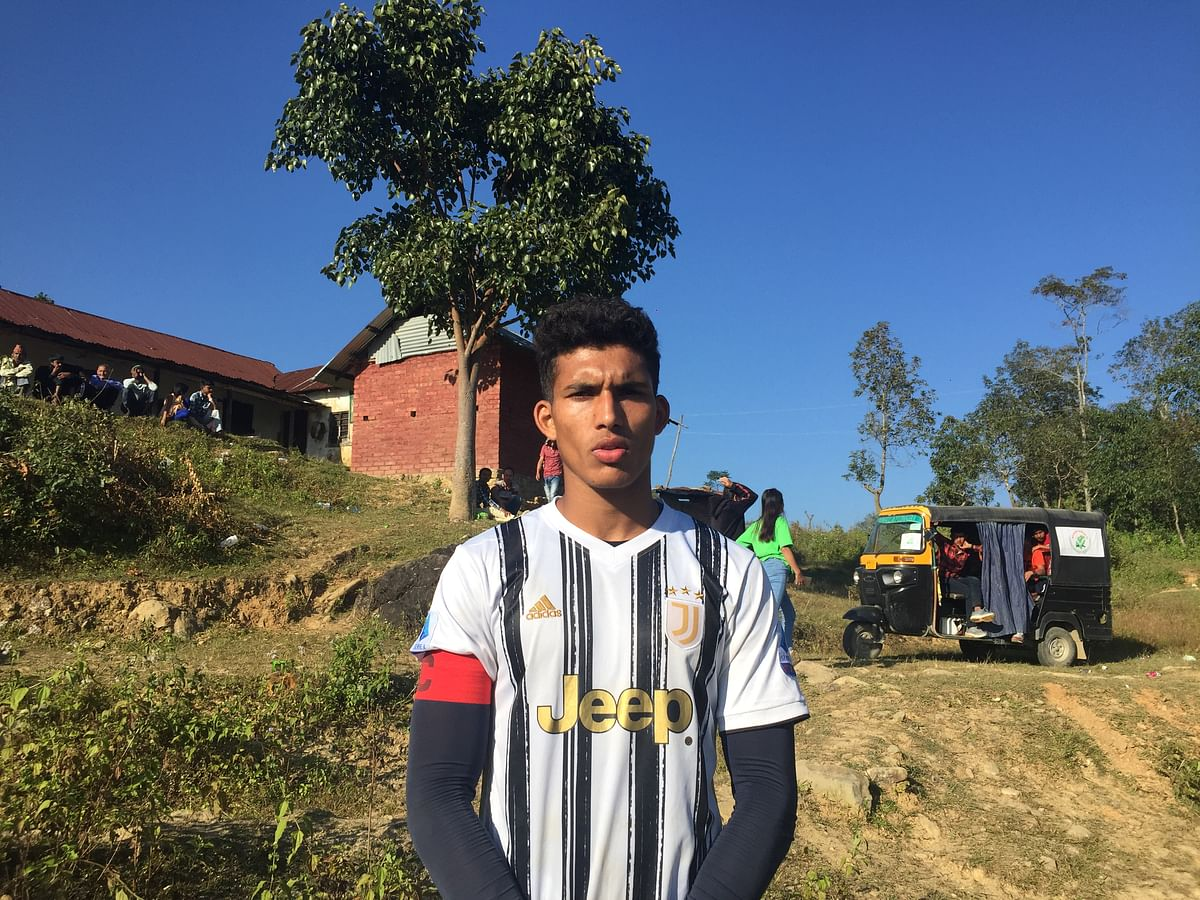 Ngaraipam Kasomhung from Manipur is currently training in Delhi for the upcoming I-League