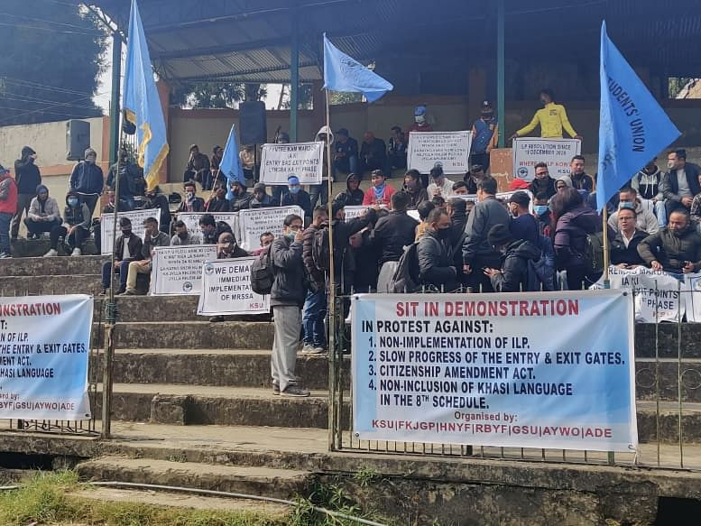 Watch: Protests in Meghalaya over non-implementation of Inner Line Permit, CAA
