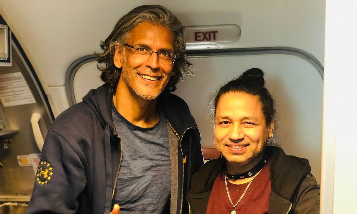 Milind Soman and Kailash Kher