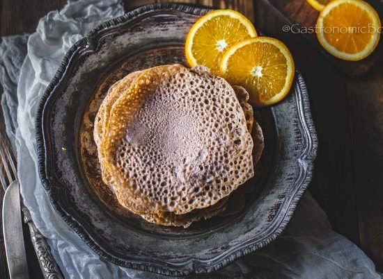It is a kind of pancake from buckwheat flour served with butter tea from yak milk
