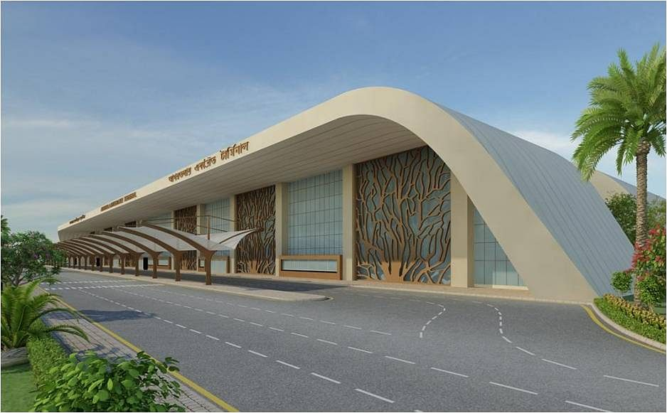 Airside view of the new terminal building