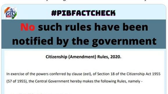 """""""This Rules may be called THE CITIZENSHIP (AAMENDMENT) RULES, 2020,"""" stated the fake order"""