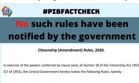 """This Rules may be called THE CITIZENSHIP (AAMENDMENT) RULES, 2020,"" stated the fake order"