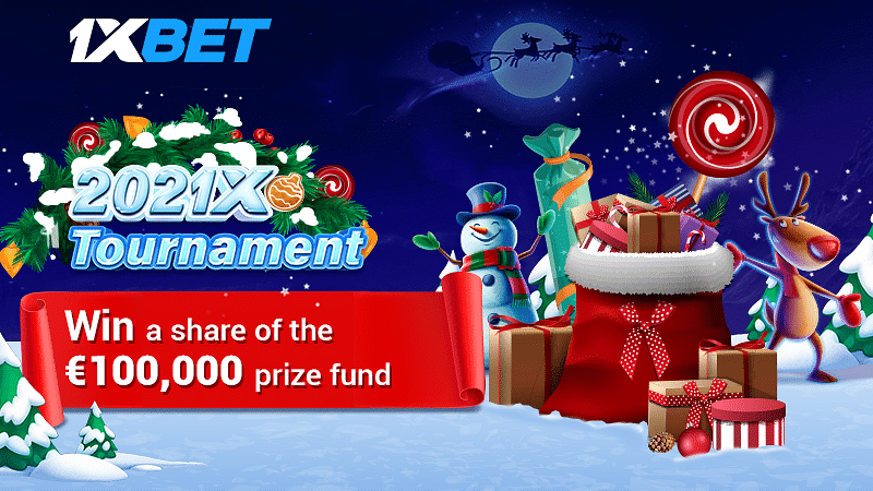 Registered users of 1xBet can take part in  with a truly festive prize fund - 100 thousand euros!