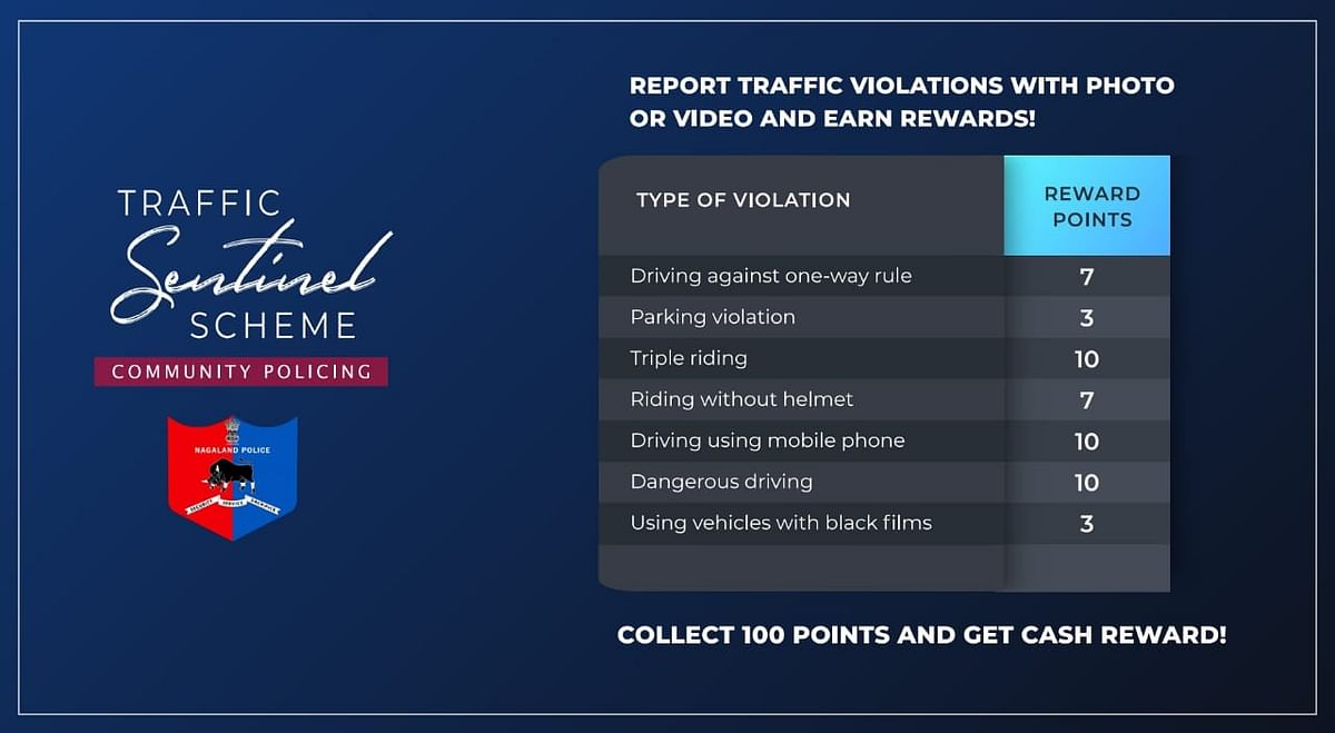The types of violations and reward points