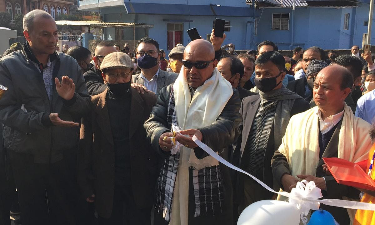 Addressing the gathering MLA Sanbor Shullai said that he had always felt the pulse of the people and this project was something that he had dreamt to complete