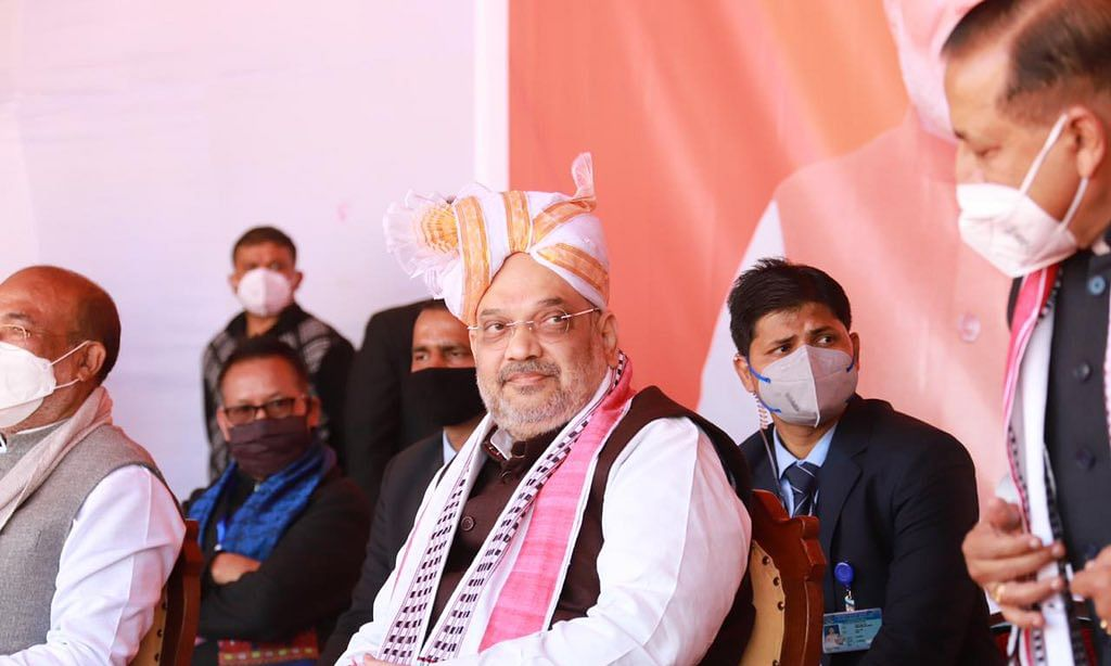 Union Home Minister Amit Shah during his visit To Manipur