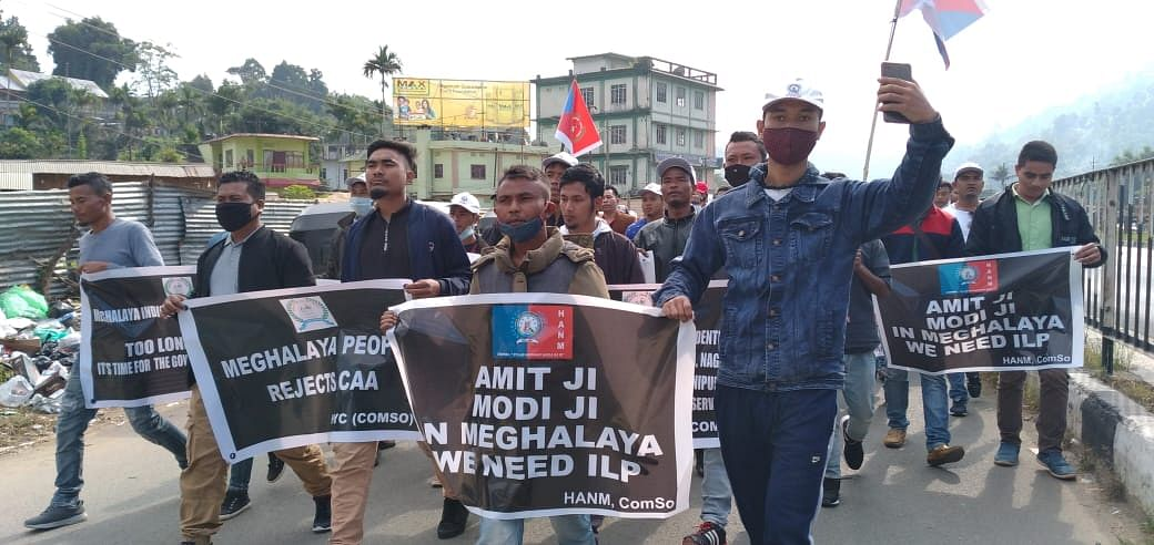 Protests was also carried out in different districts of Meghalaya
