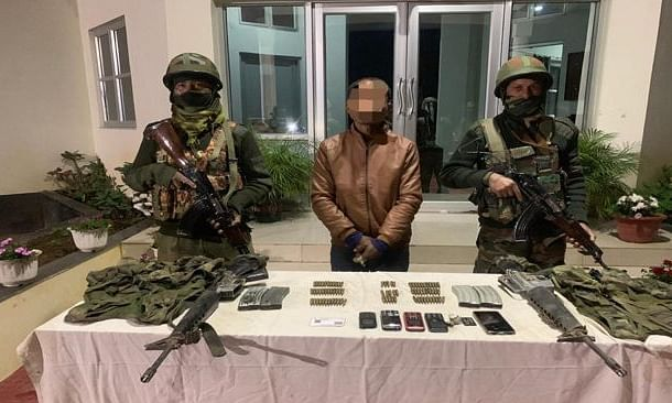 The apprehended individual along with recovered items have been handed over to Henglap Police Station, Churachandpur for further investigation