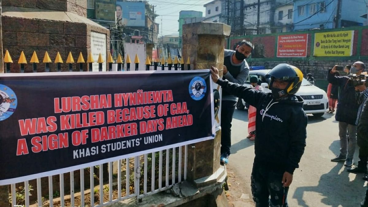 NESO observes 'black day' in Meghalaya, puts up banners opposing CAA