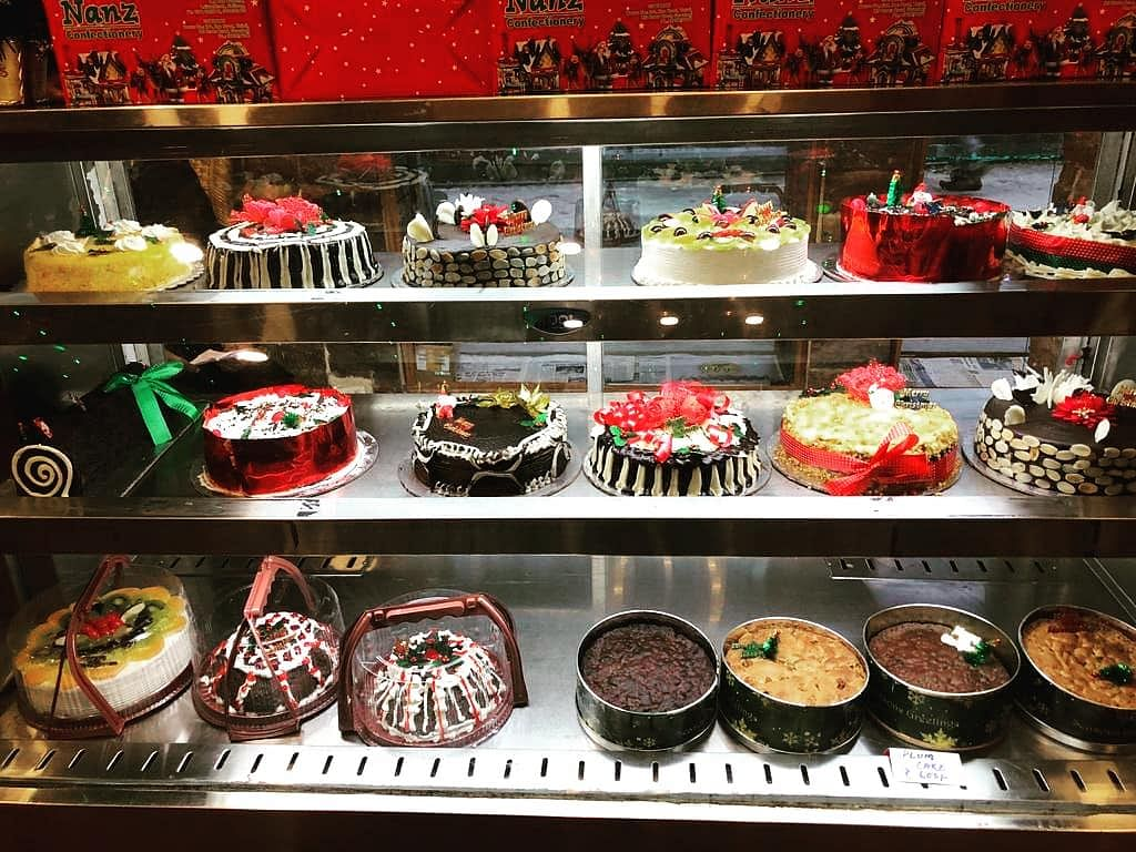 Christmas cakes at Nanz Confectionary