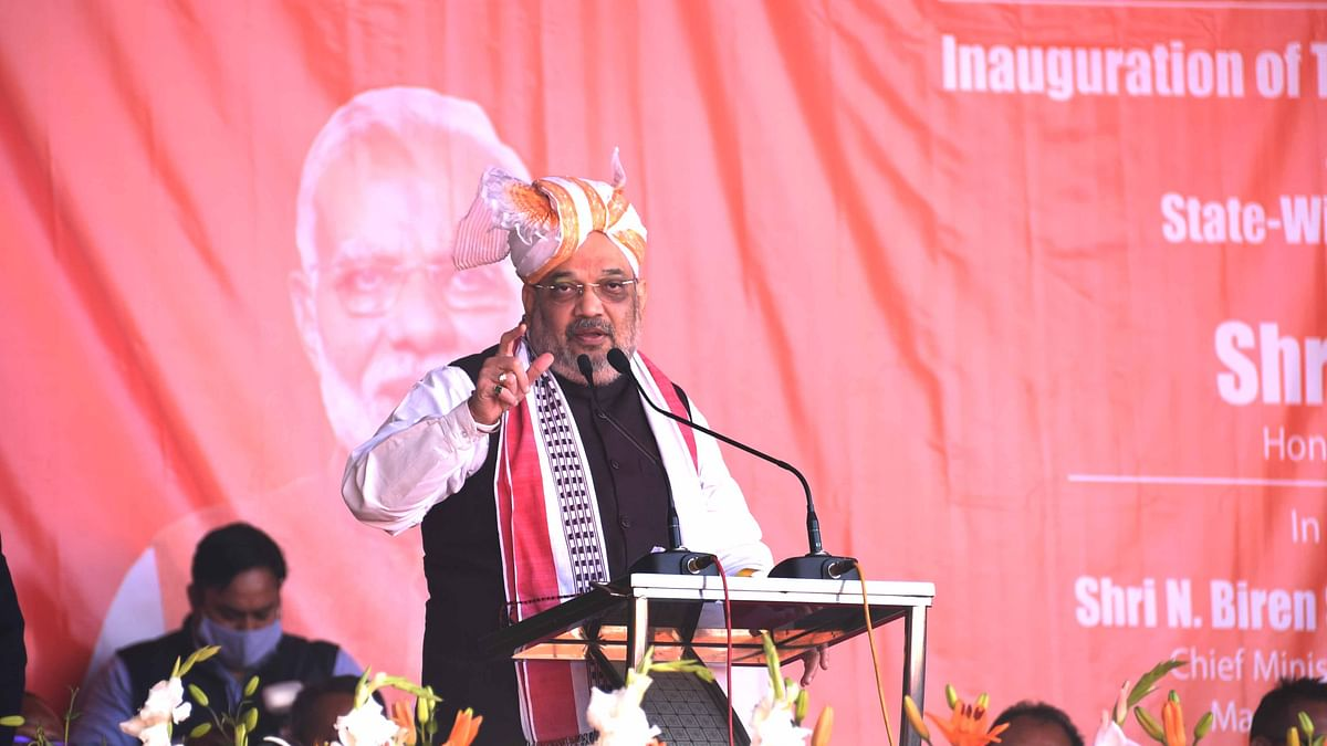 Manipur: Amit Shah lays foundation for IIT, medical college