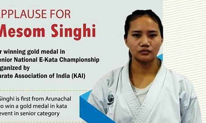 She was selected for the KAI Championship based on the 3rd State Olympic Games which was conducted at Chimpu
