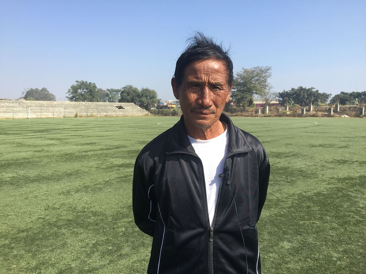 Veteran football player YL Crawford from Hungpung village
