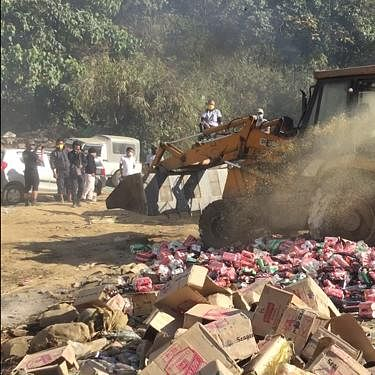 Nagaland: Locals in Kohima destroy liquor worth Rs 20 lakh