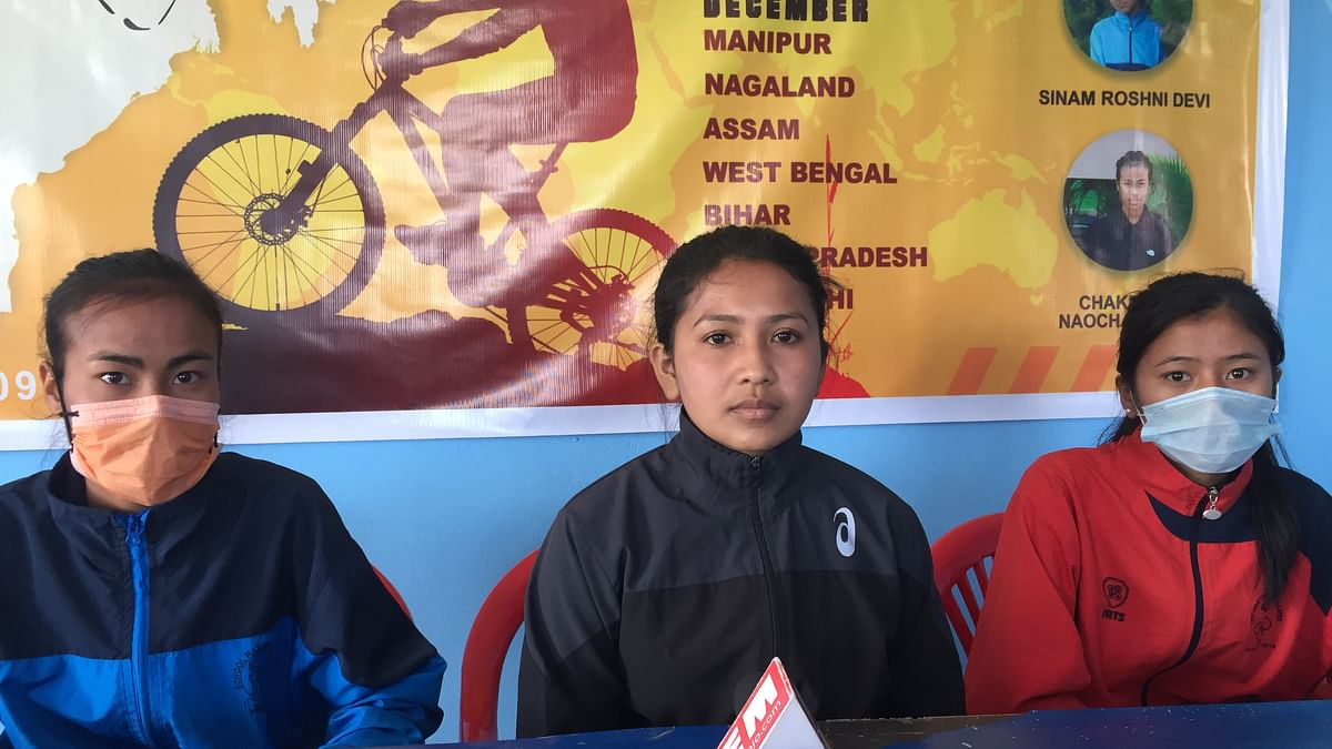 Manipur: Why these three young women are cycling 2,500 km to Delhi