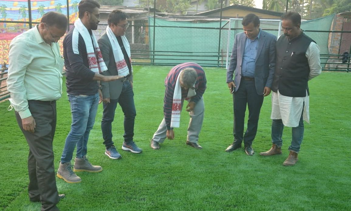The artificial turf located at city's Beharbari area eyes at boosting grassroots football infrastructure in Assam