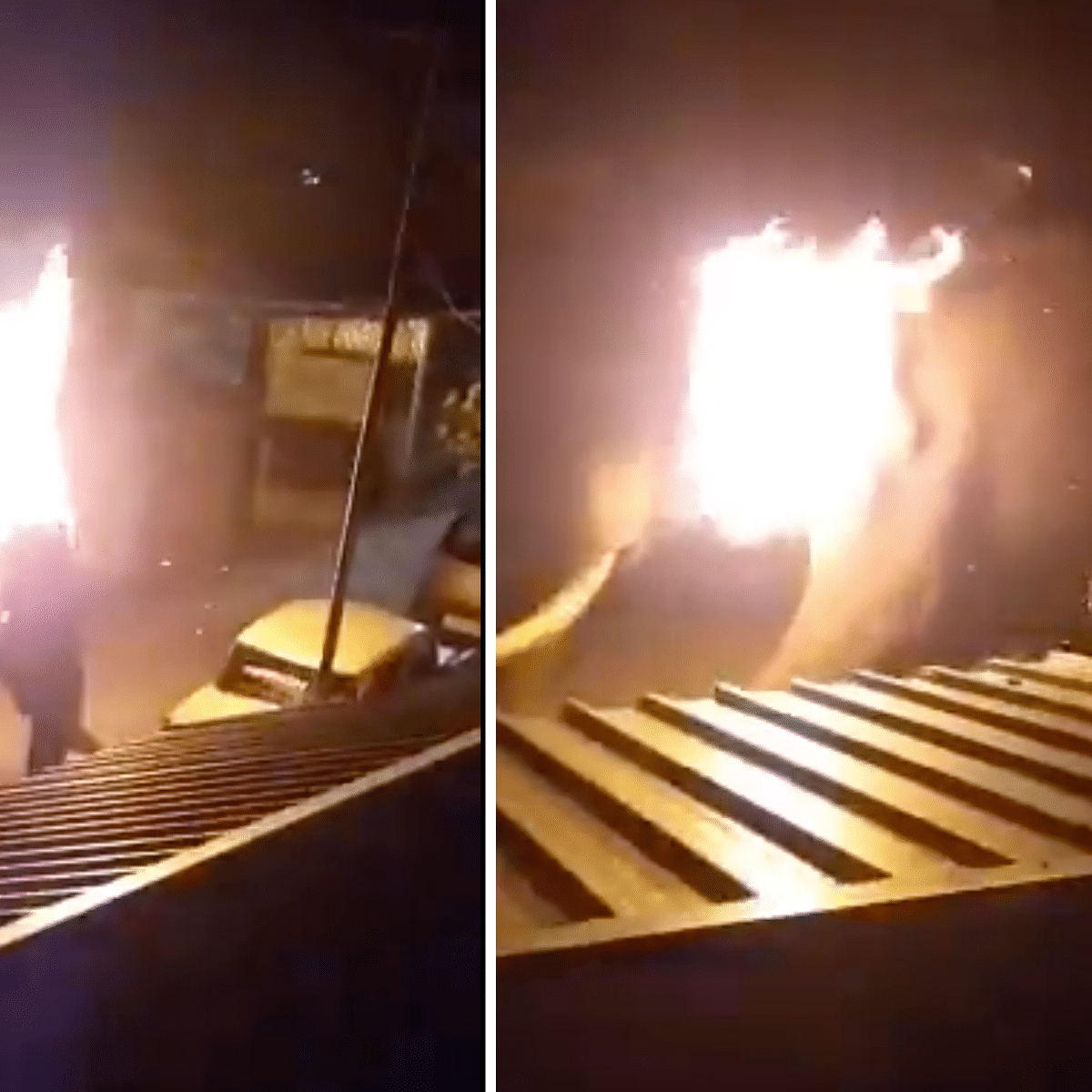 Watch: Shocking visuals show people throwing burning branch at elephant, causing its death
