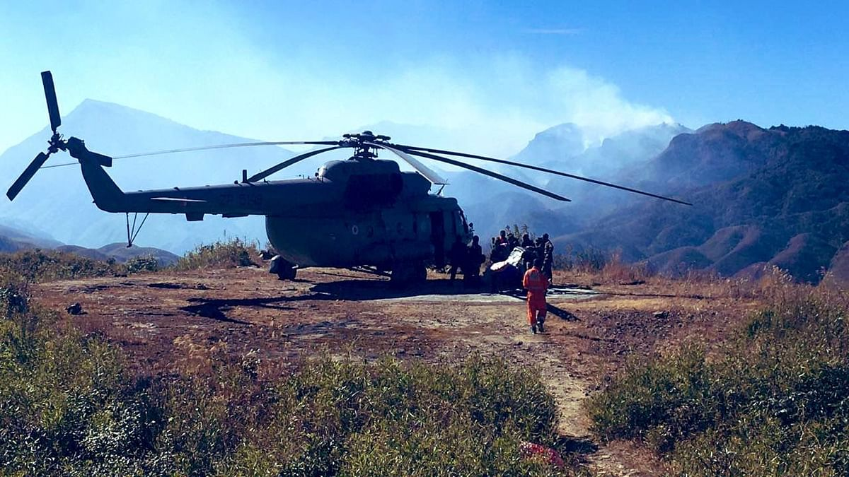A week on, Manipur-Nagaland battle to tame Dzukou wildfire