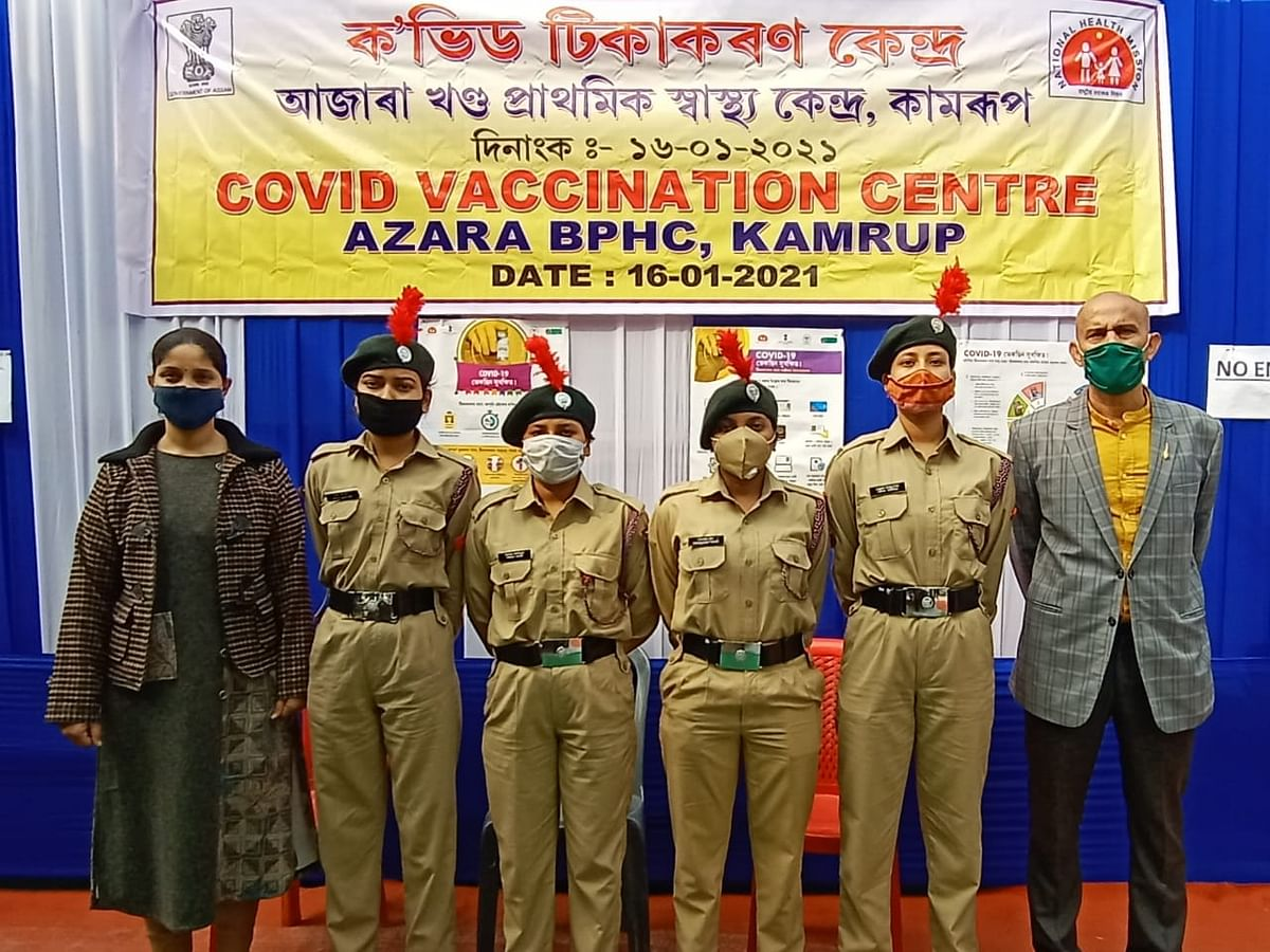 Assam: NCC cadets help frontline workers in vaccination drive