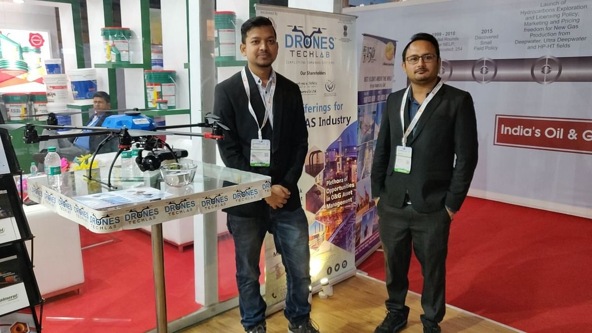 Drone Tech Lab presenting solutions during Petrotech