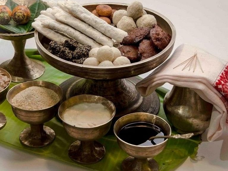 The many kinds of pitha, laru and jolpaan to feast on this Magh Bihu