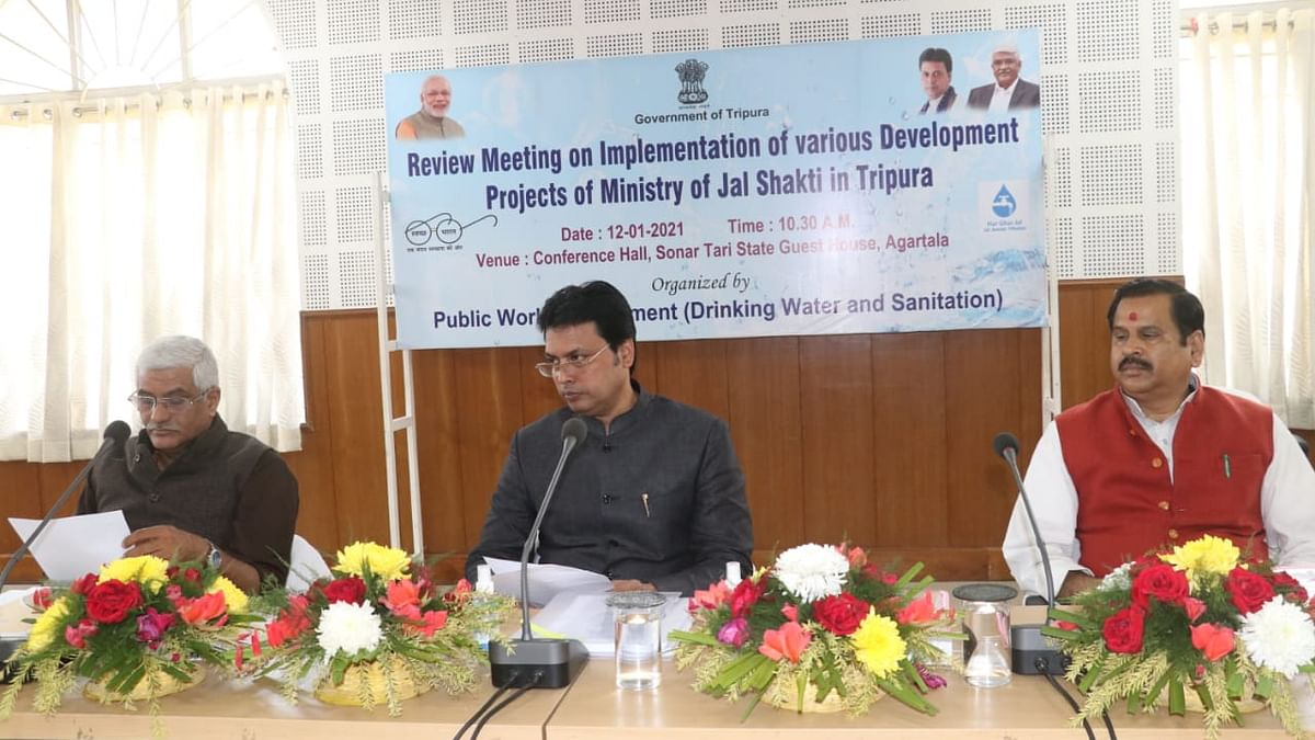 Tripura to surpass national average in Jal Jeevan Mission, says union minister