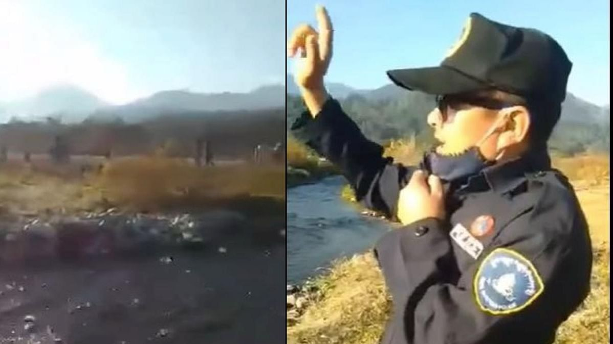 Watch: Bhutan cop wins hearts with polite request to Indian picnickers