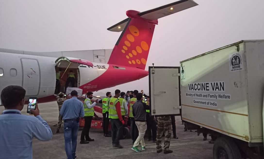 The Spicejet freighter ferried over 730 kg of cargo