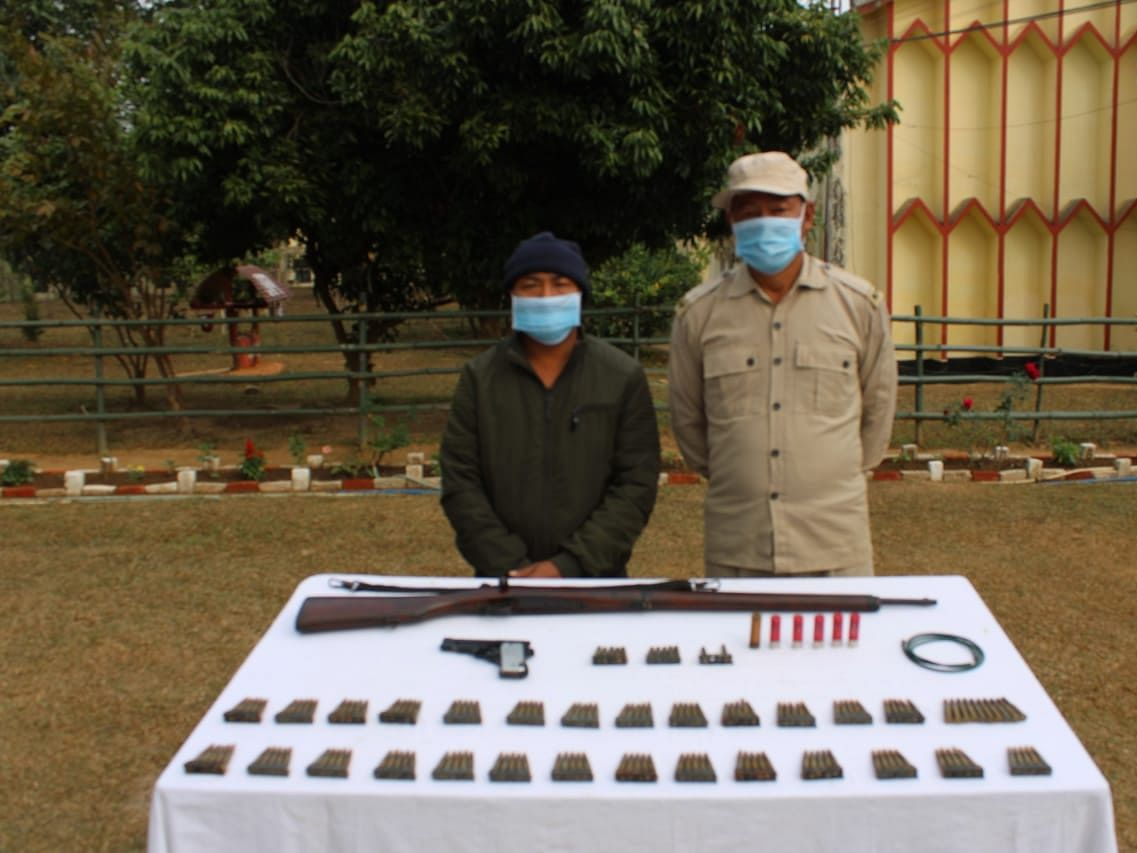 Nagaland: One person arrested in Jalukie with illegal arms