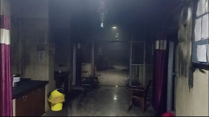The paediatric ward which caught fire