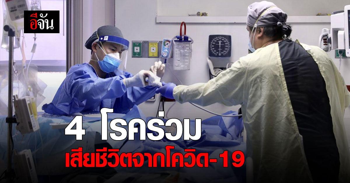 4 โรคร่วม เกี่ยวข้อง การเสียชีวิตจาก โควิด-19