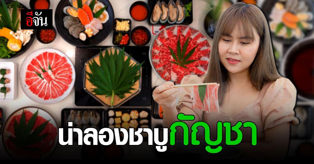 ร้านชาบู พิษณุโลก เอาใจตลาด จัดเมนูอาหาร น้ำซุปใส่ใบกัญชา